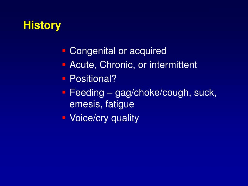 Congenital or acquired