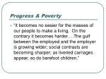 progress poverty