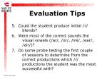 evaluation tips23