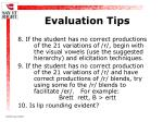 evaluation tips24