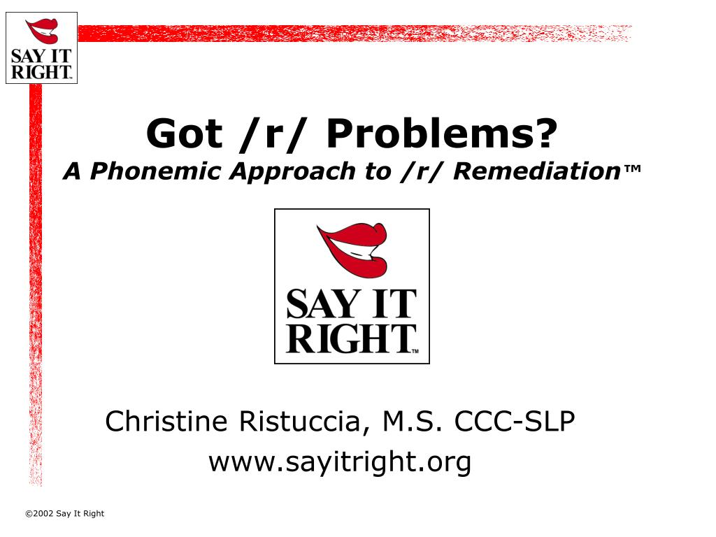 got r problems a phonemic approach to r remediation l.