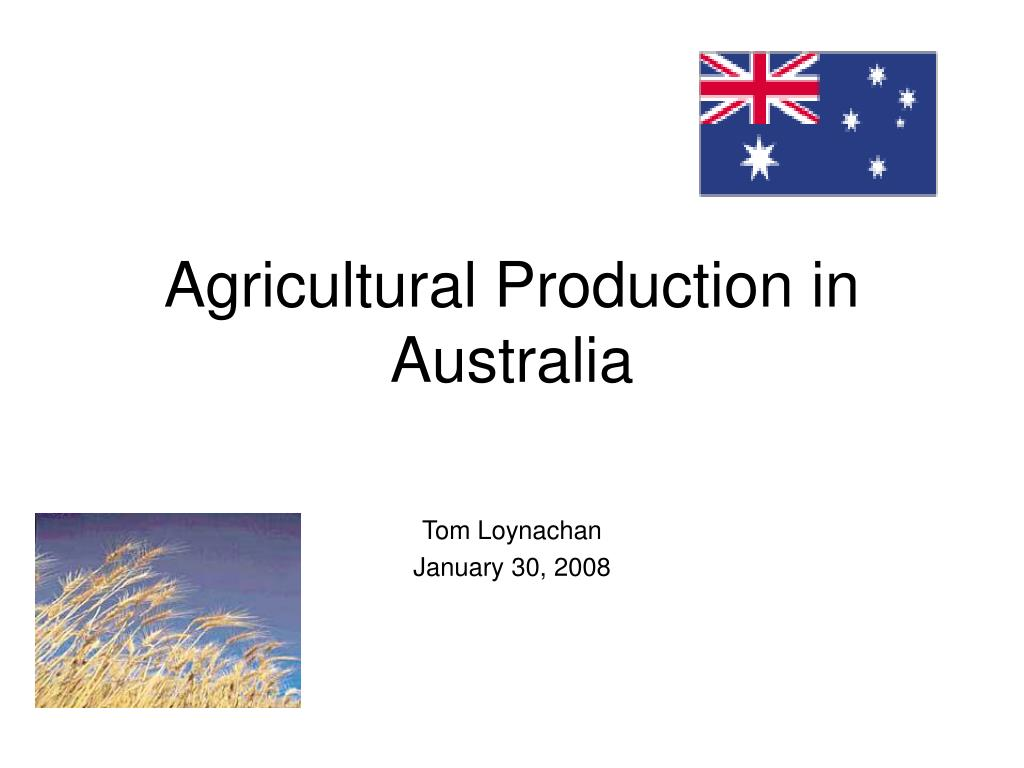 agricultural production in australia l.