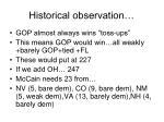 historical observation