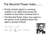 the banzhaf power index bachrach et al 08