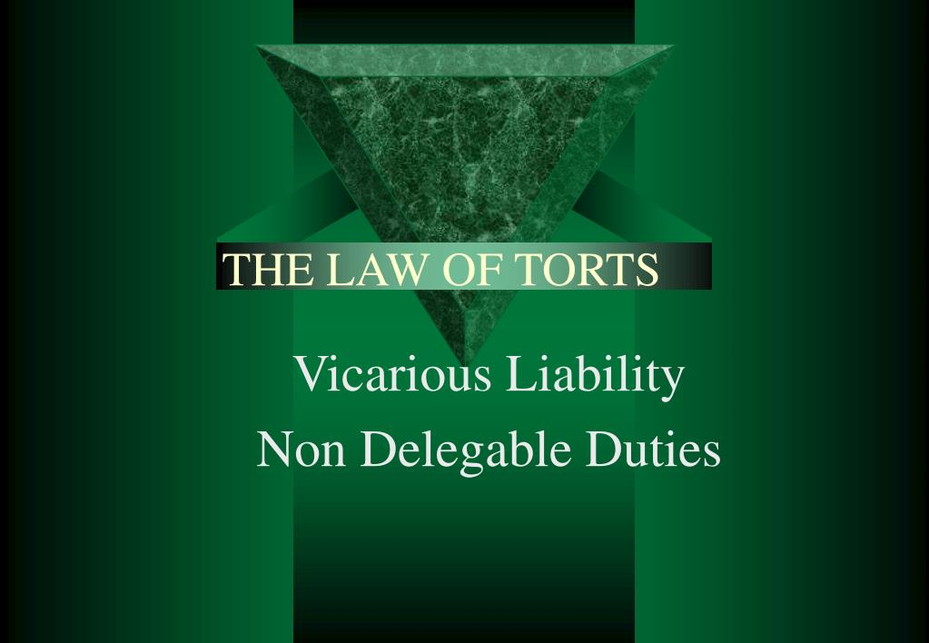 the law of torts l.