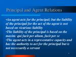 principal and agent relations
