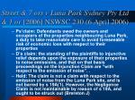 street 7 ors v luna park sydney pty ltd 1 or 2006 nswsc 230 6 april 2006