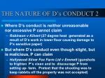 the nature of d s conduct 2