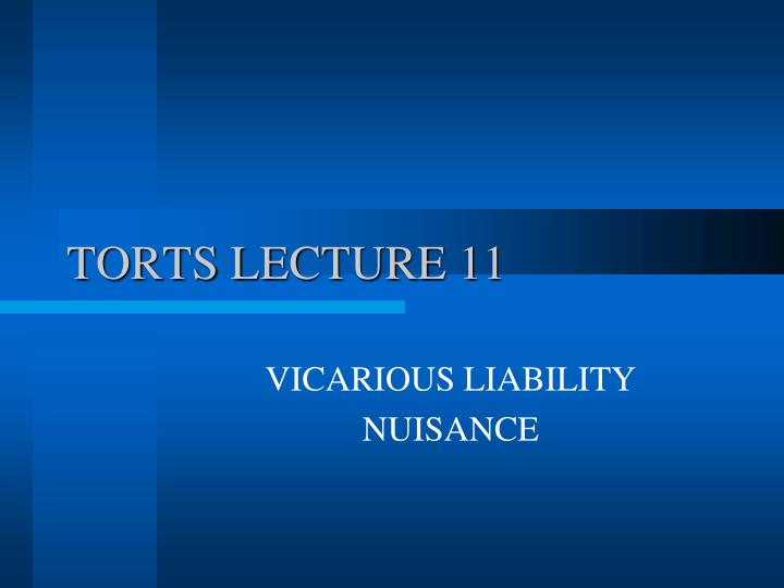 torts lecture 11 n.