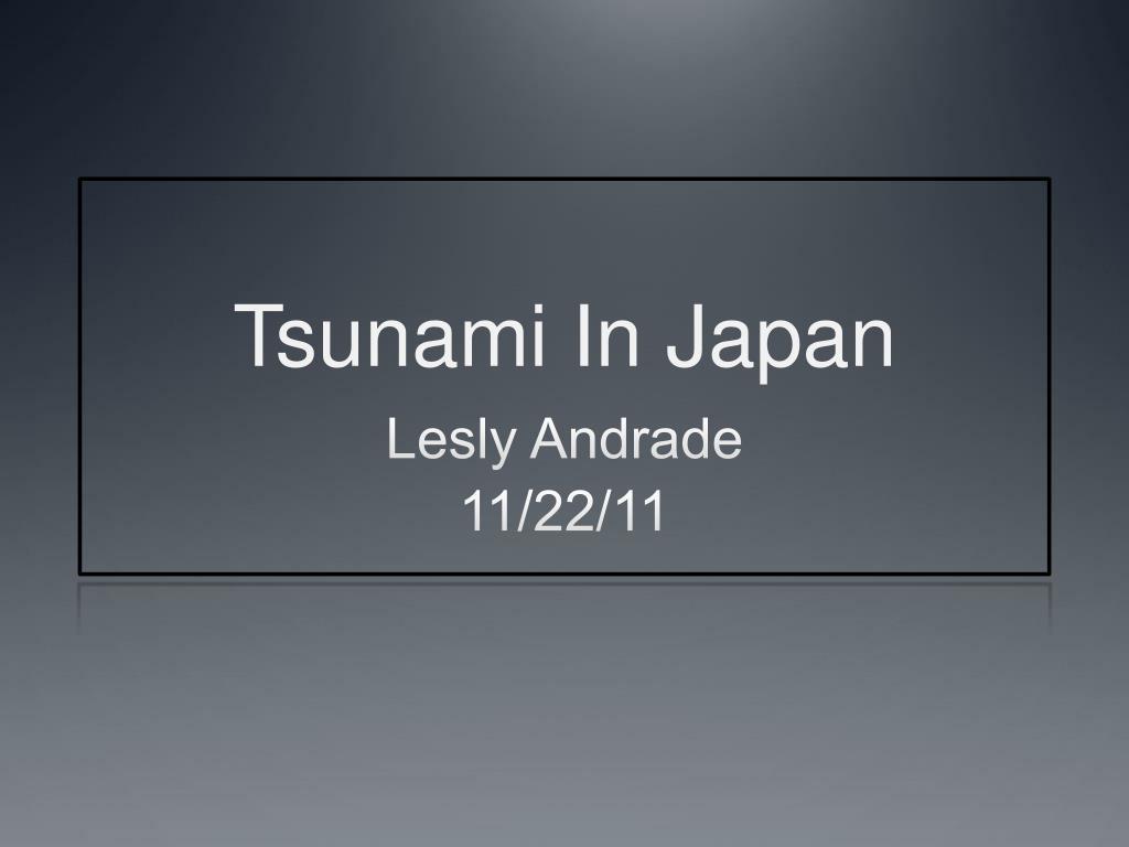 tsunami in japan l.