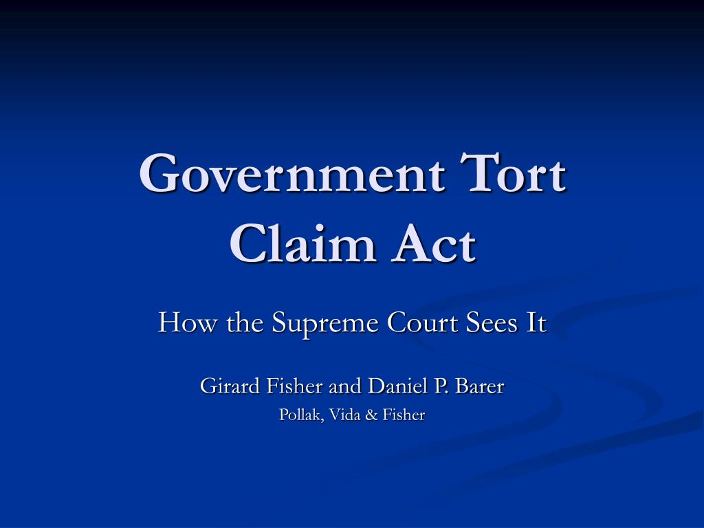 government tort claim act l.