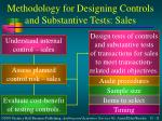 methodology for designing controls and substantive tests sales
