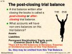 the post closing trial balance