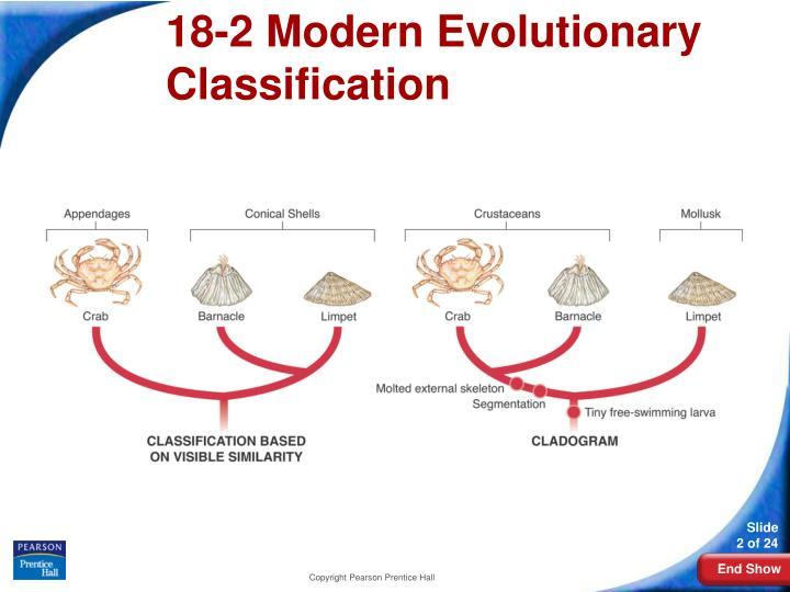 18 2 modern evolutionary classification