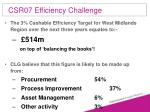 csr07 efficiency challenge