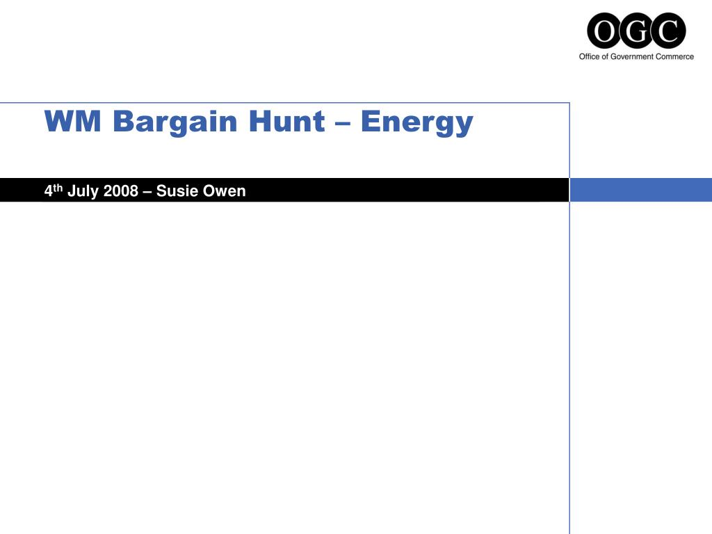 wm bargain hunt energy l.