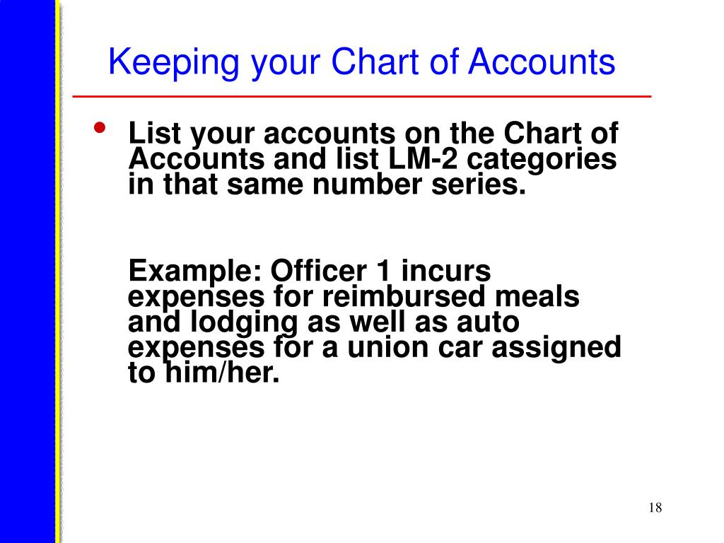 Keeping your Chart of Accounts
