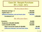case 2a bargain purchase bv cost ee s