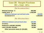 case 2b bargain purchase bv cost ee s