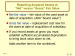 reporting acquired assets at net versus gross fair value