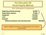 the allocation ee partial equity method29