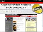 accounts payable website is under construction