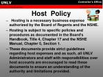 host policy