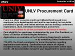 unlv procurement card