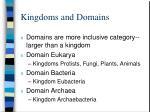 kingdoms and domains