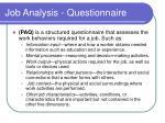 job analysis questionnaire
