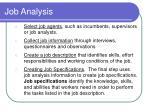 job analysis11