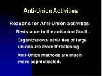 anti union activities42