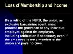 loss of membership and income47