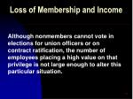 loss of membership and income48