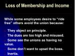 loss of membership and income49