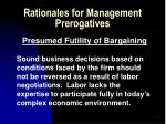 rationales for management prerogatives16
