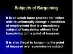 subjects of bargaining10