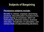 subjects of bargaining12