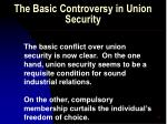 the basic controversy in union security