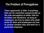 the problem of prerogatives