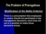 the problem of prerogatives22