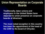 union representation on corporate boards