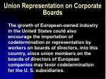 union representation on corporate boards32