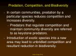 predation competition and biodiversity