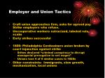 employer and union tactics