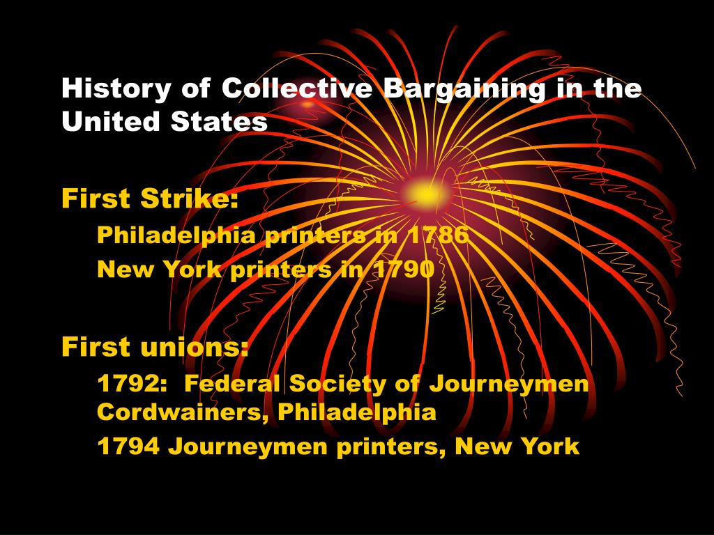history of collective bargaining in the united states l.