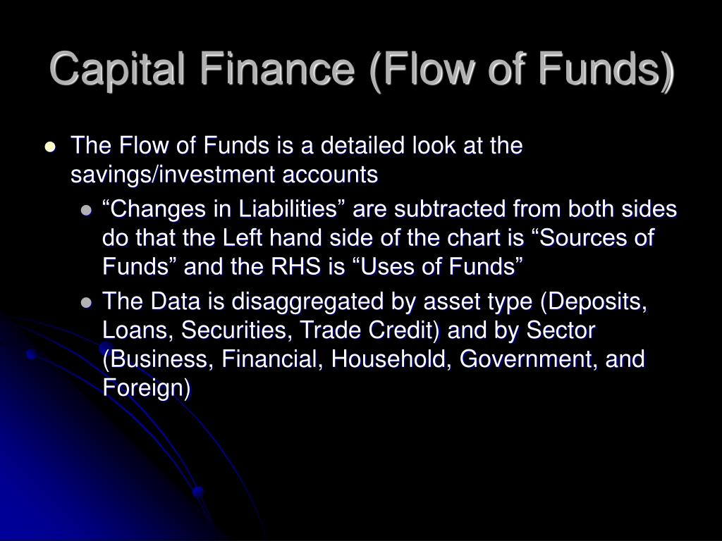 Capital Finance (Flow of Funds)