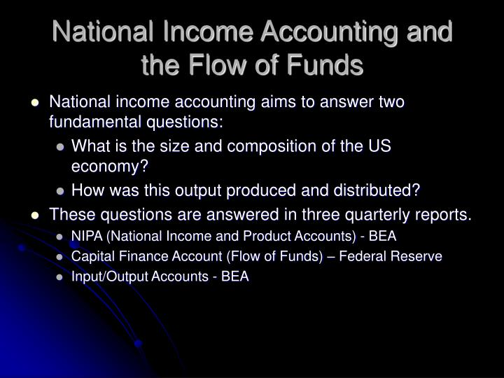 National income accounting and the flow of funds3