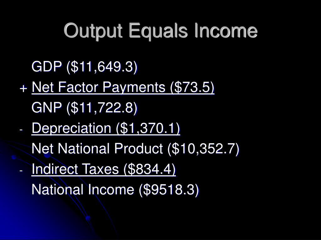 Output Equals Income
