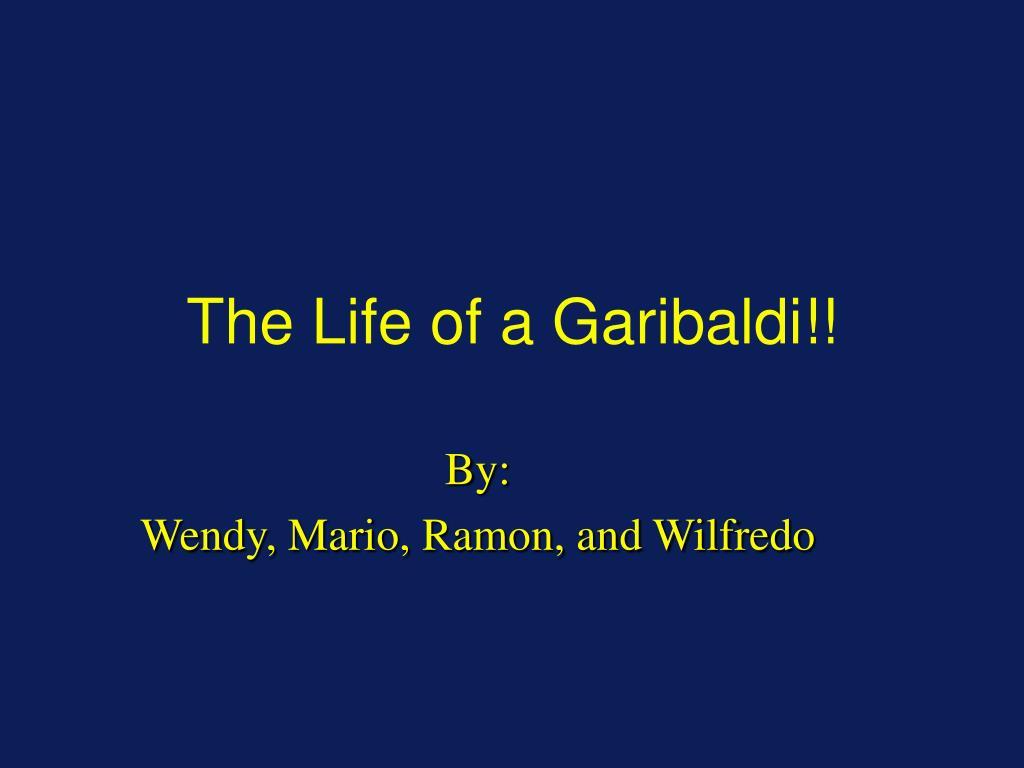 the life of a garibaldi l.